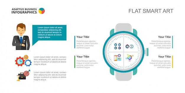 Plantilla de diapositiva del concepto de gestión de tiempo