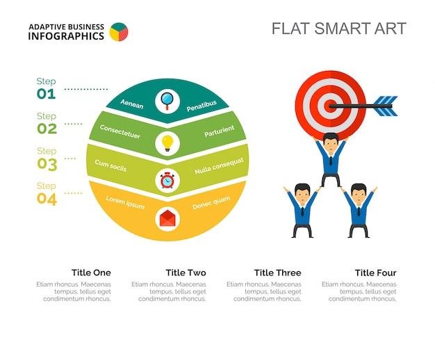 Plantilla de diapositiva del concepto de objetivo empresarial