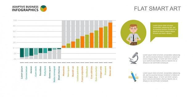 Plantilla de diapositiva de diagrama de barras de ingeniería