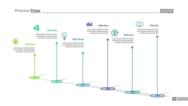 Plantilla de diapositiva de diagrama de seis puntos
