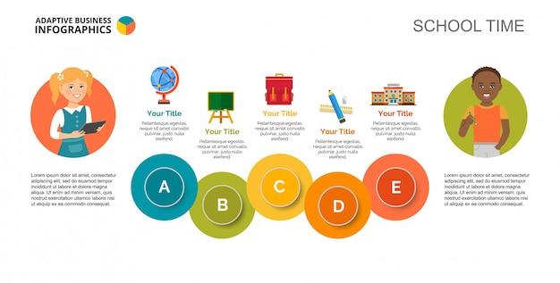 Plantilla de diapositiva de educación escolar