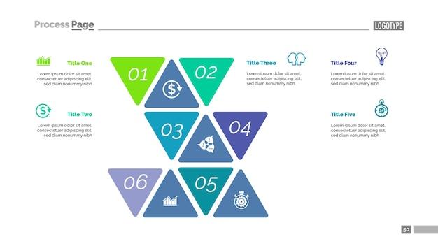 Plantilla de diapositiva del enfoque de seis opciones