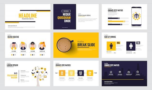 Plantilla de diapositiva de infografía