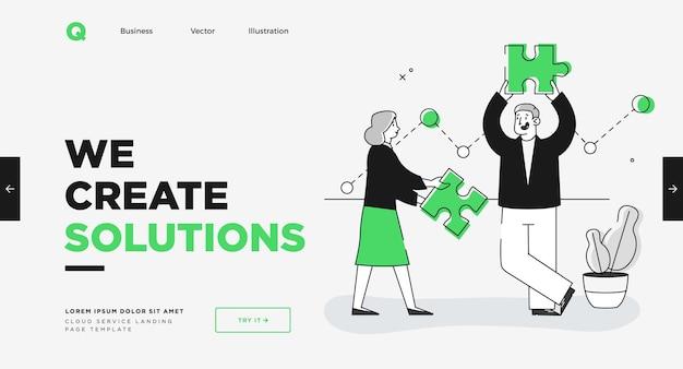 Plantilla de diapositiva de presentación o diseño de sitio web de página de destino ilustraciones de concepto de negocio