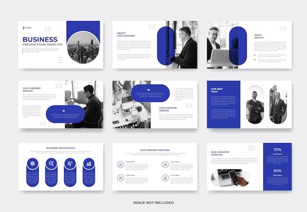 Plantilla de diapositiva de presentación de propuesta de proyecto empresarial mínima o plantilla de pwoerpoint de perfil de empresa
