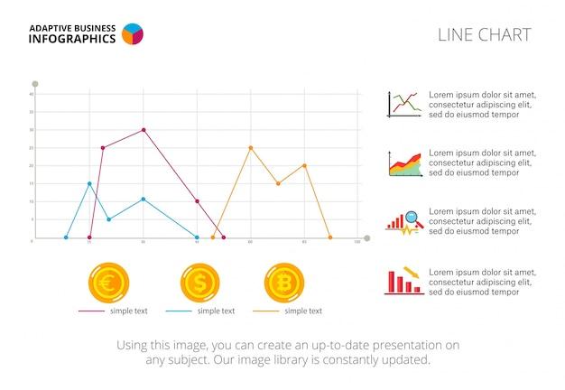 Plantilla de diapositiva de tres líneas