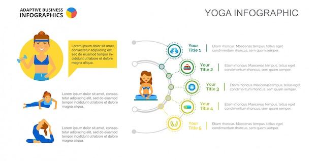 Plantilla de diapositiva de yoga concepto gráfico