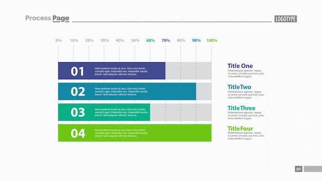Plantilla de diapositivas de cuatro barras horizontales
