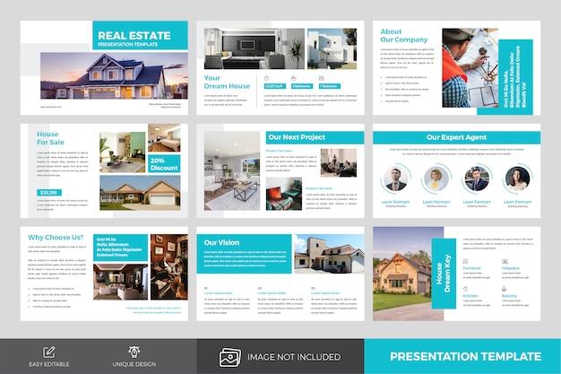 Plantilla de diapositivas de presentación de bienes raíces