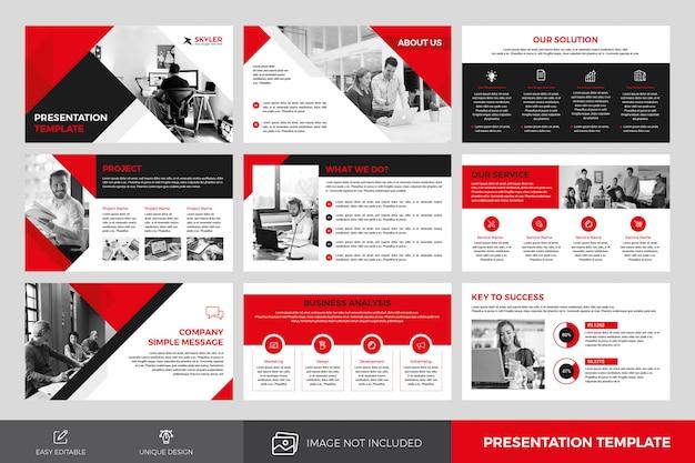 Plantilla de diapositivas de presentación comercial