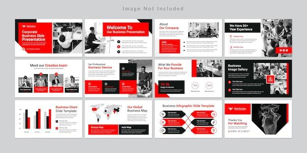 Plantilla de diapositivas de presentación de negocios mínima.