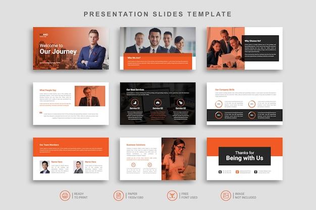 Plantilla de diapositivas de presentación