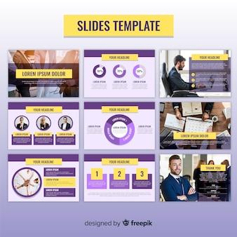 Plantilla de diapositivas de  presentaciones de negocios