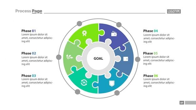 Plantilla de diapositivas de seis elementos