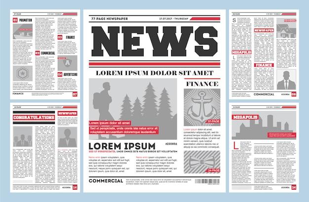 Plantilla de diario periódico vintage