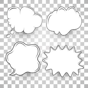 Plantilla de dibujos animados conjunto de burbujas de discurso