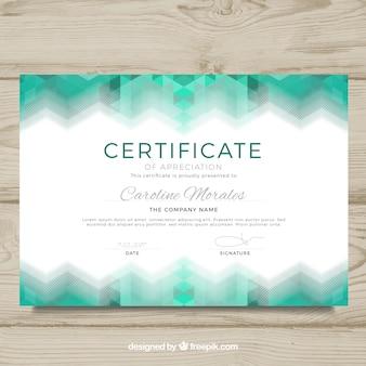 Plantilla de diploma con diseño abstracto