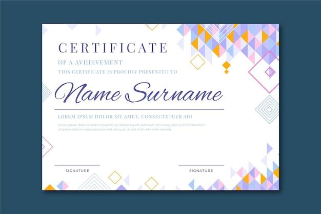 Plantilla de diploma para diseño de graduación