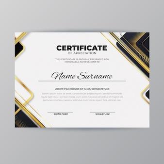 Plantilla de diploma moderno
