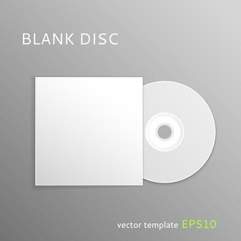 Plantilla de disco en blanco
