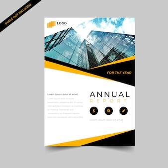 Plantilla de diseño abstracto de folleto de negocio corporativo simple
