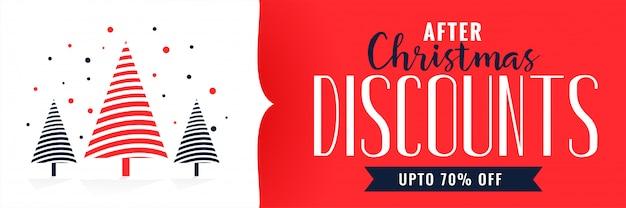 Plantilla de diseño de banner de descuentos de navidad