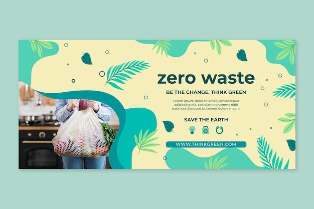 Plantilla de diseño de banner de desperdicio cero