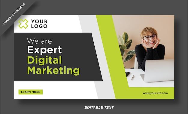 Plantilla de diseño de banner de experto en marketing digital