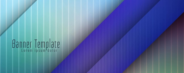 Plantilla de diseño de banner geométrico moderno abstracto