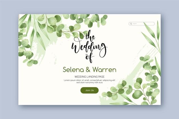 Plantilla de diseño de banner de invitación de boda