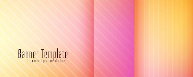 Plantilla de diseño de banner moderno abstracto