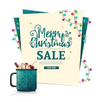 Plantilla de diseño de banner de navidad para la venta
