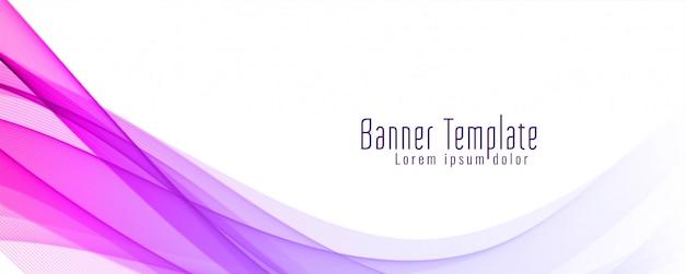 Plantilla de diseño de banner ondulado moderno