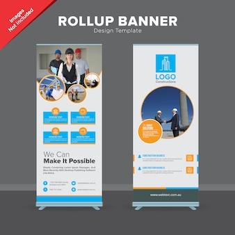 Plantilla de diseño de banner de rollup profesional