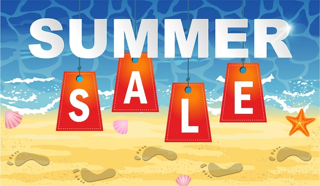 Plantilla de diseño de banner de venta de verano para la promoción