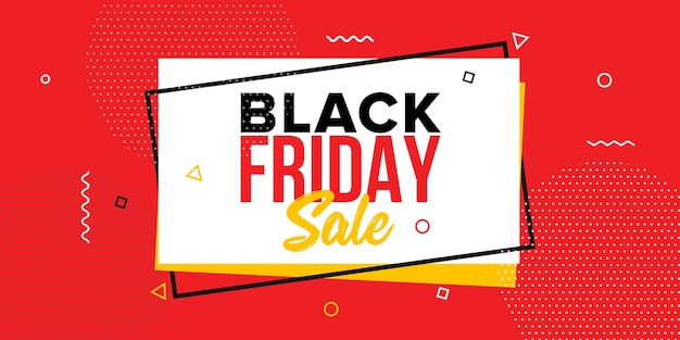 Plantilla de diseño de banner de venta de viernes negro