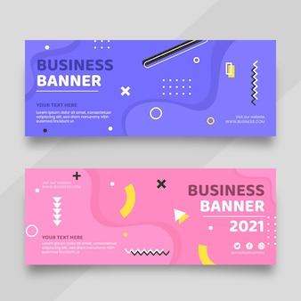 Plantilla de diseño de banners planos