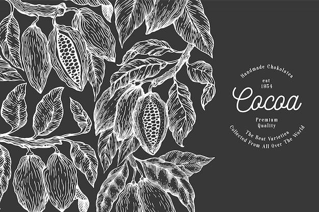 Plantilla de diseño de cacao.
