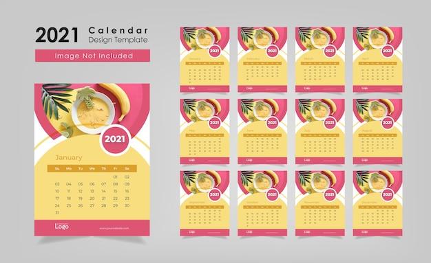 Plantilla de diseño de calendario
