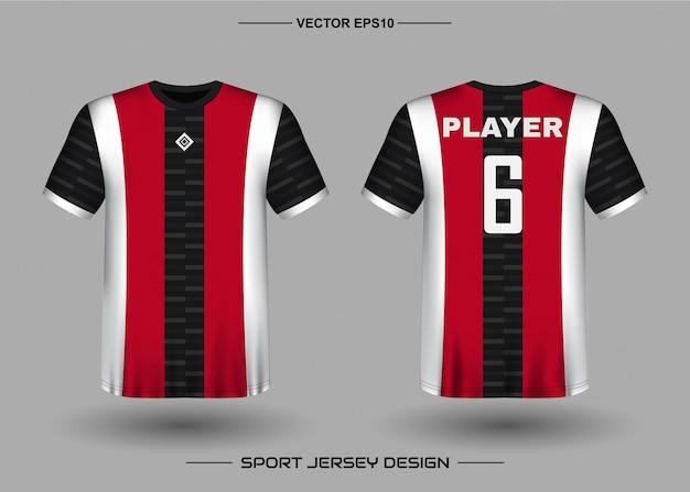 Plantilla de diseño de camiseta deportiva para equipo de fútbol