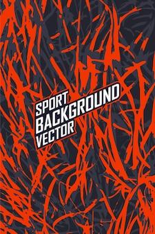 Plantilla de diseño de camiseta deportiva. maqueta de camiseta de fútbol y motocross de manga larga