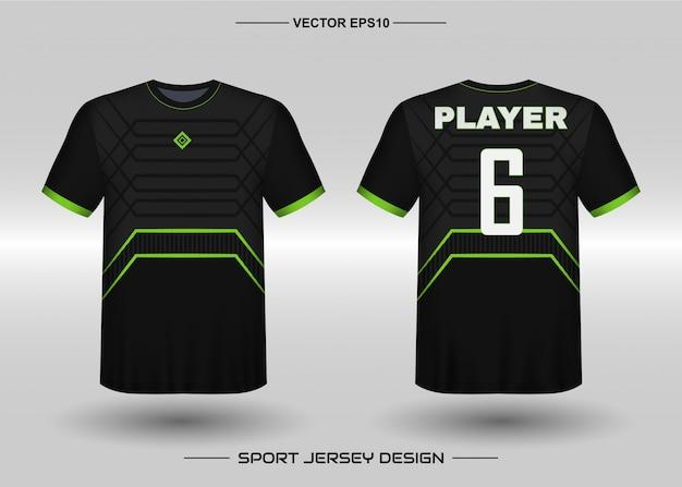 Plantilla de diseño de camiseta deportiva para uniformes de equipos de fútbol