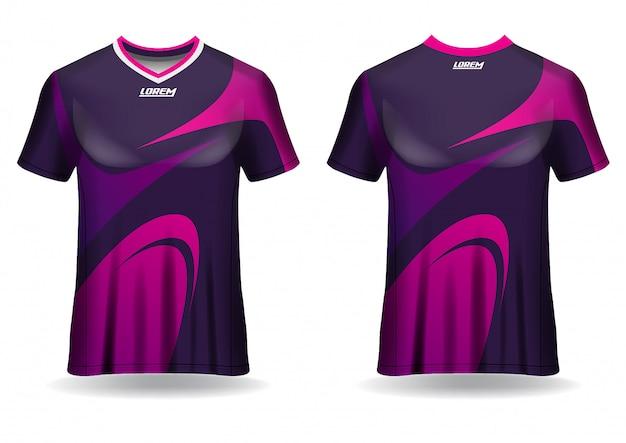 Plantilla de diseño de camiseta de jersey deportivo