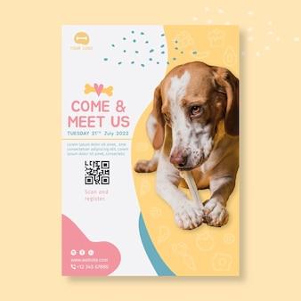 Plantilla de diseño de cartel de comida animal