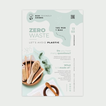 Plantilla de diseño de cartel de desperdicio cero