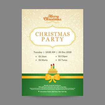 Plantilla de diseño de cartel de fiesta de navidad creativa