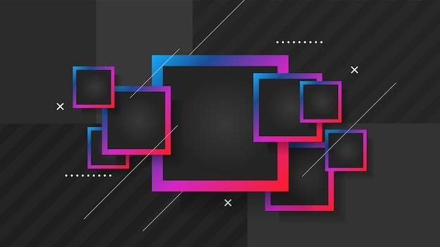 Plantilla de diseño de cartel geométrico abstracto