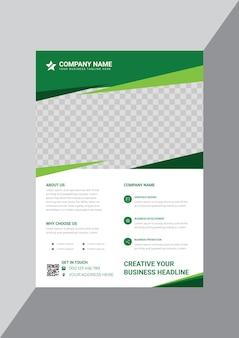 Plantilla de diseño de cartel de negocio moderno creativo verde