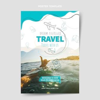 Plantilla de diseño de cartel de viaje