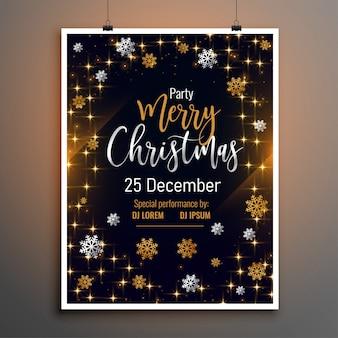 Plantilla de diseño de cartel de volante encantador de feliz navidad